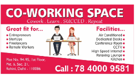 Coworking Space in Sector 21 Rohini