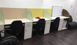 INDIVIDUAL OFFICE SPACE FURN IN GROUND FLOOR WITH 12 SEATER 1CABIN CONFERENCE ROOM