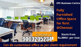 SERVICED OFFICE COWORKING SPACE FOR RENT